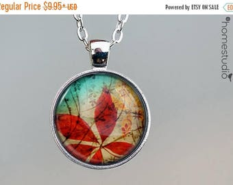 ON SALE - Autumn 5 : Glass Dome Necklace, Pendant or Keychain Key Ring. Gift Present metal round art photo jewelry by HomeStudio