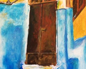 Wall Art - Art Print - Doorway Art - Casablanca - Moroccian Art - Leah Reynolds