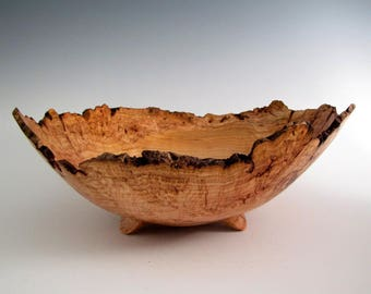 Wood Bowl - Cherry Burl Wood Bowl - Wood Turned Bowl - Fathers Day - Wooden Bowl - Wood Turning Bowl -Wedding Gift - Wood Centerpiece Bowl