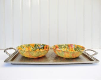 vintage California poppy artmor fiberglass salad bowl set