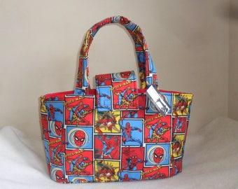 Large Marvel Spiderman Diaper Bag Tote INTERIOR COLOR CHOICE