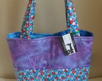 Large Rainbow Fish Scale Tote Bag Purse SPECIAL ORDER