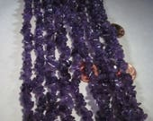 Chip Beads Nugget Deep Purple Amethyst Semi Precious Stone Beads approx 34inches AA