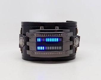 Steampunk watch. Steampunk led watch.