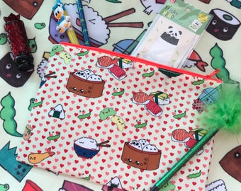 Dim Sum Fun All Over Print Clutch Pencil Case Cosmetic Bag