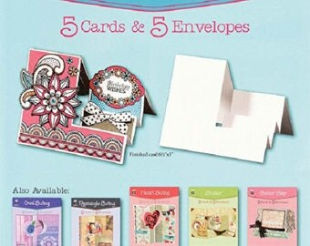 Side Step Die-Cut Cards (5 pack) by Hot Off The Press