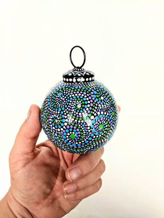 Christmas ornaments Hand painted glass ornaments