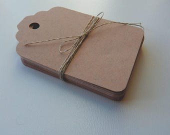 CLOSING DOWN SALE medium size linen buff beige brown colour plain card price hang gift tags