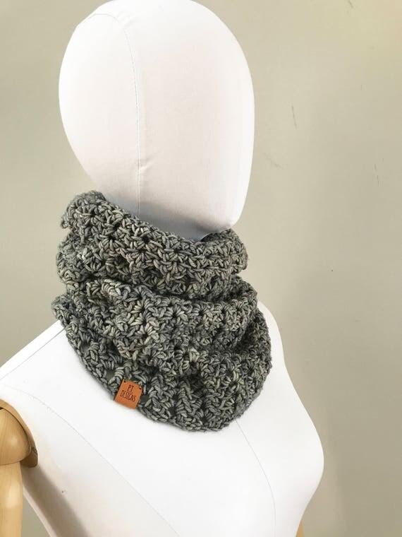 Merino Wool Cowl : Smoky Gray