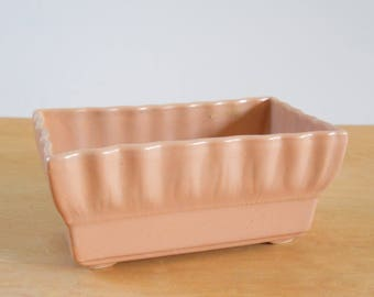 Vintage Coronet Planter •  Dusty Rose Scalloped Planter • American Pottery Planter