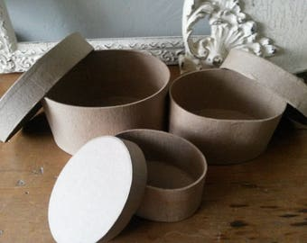 paper mache box set oval nesting boxes party favors gift wrap crafts supplies candy containers jewelry gift boxes crafts