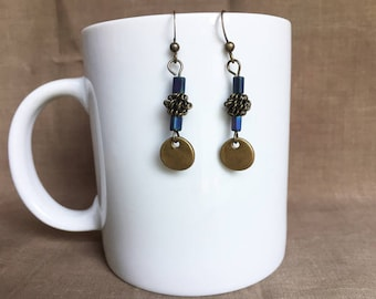 Rain ... Extreme Decaf Earrings .. FREE U.S. SHIPPING