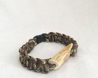 Paracord antler bracelet