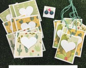September Mini Heart Mail Bundle Cactus Succulents