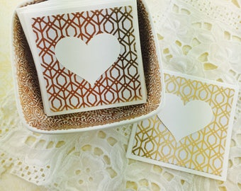 Mini Heart Cards Gold Collection Set of 9