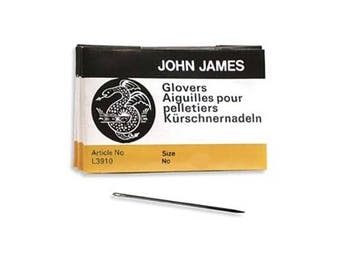 John James Glovers Needles Size 9 43610 Size 9 Leather Needles, Glovers Bulk Pack Needle, Craft Needles, John James Needle L3910