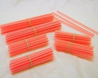 Red and White Plastic Straws