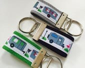 Airstream Keychain Key Fob Airstream camper Keychain Wristlet Key Holder Airstream KEYFOB Mini Key FOB Vintage Camper Camping Gift Thank You