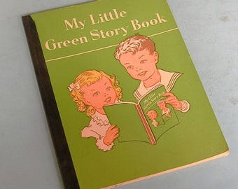 Vintage My Little Green Story Book Vintage Childrens Books 1950's