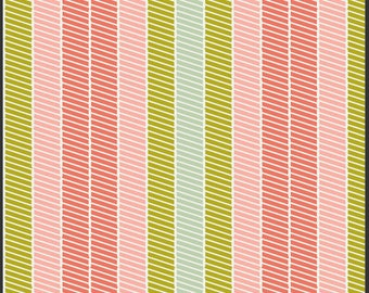 Clearance 1/2 yard Bespoken Art Gallery Fabrics Stichery in Citrus Stripe Pat Bravo