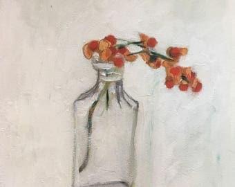 Little stem, oil painting on BFK rives paper