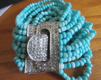 teal buckle bracelet