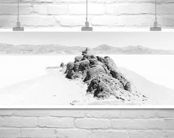 Large Art, Black and White Photography, Mojave Desert, Death Valley, Panoramic Photo, Desert Landscape, Salt Flats, Desert Picture, Gift