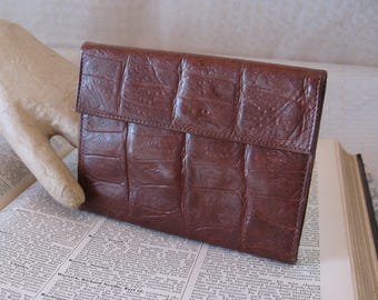 Vintage 1960's Brown  Leather  Wallet