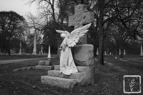 """Mourning Angel,"" Crown Hill Cemetery, Indianapolis, Indiana, 2013."