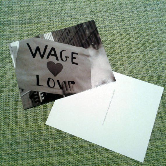 """Packet of Postcards, """"Wage Love"""" from the New York City Women's March, 2017."""