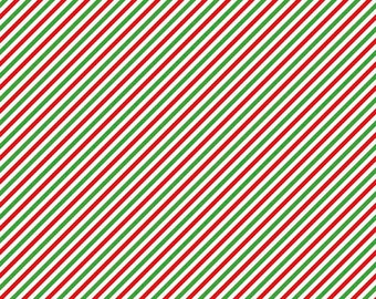 Pixie Stripe Green Pixie Noel by Tasha Noel for Riley Blake Designs- C5256-GREEN, red and green fabric, christmas cotton, christmas fabric