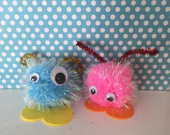 DIY Best Friend Monster buddies Pom Pom monsters