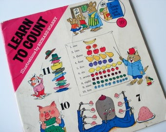 Learn to Count - Richard Scarry - Children's book - 1976