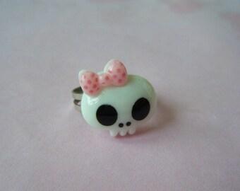 Ring - Skull - white