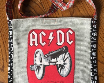 ACDC tshirt bag red/gray