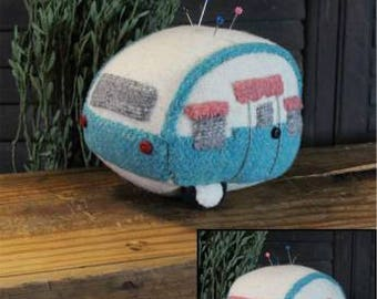 PATTERN VINTAGE CAMPER pin cushion    We combine shipping