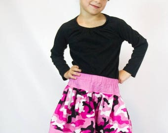 ON SALE Girls Pink Camoufalge Twirl Skirt - Pink Twirl Skirt - Camouflage Skirt
