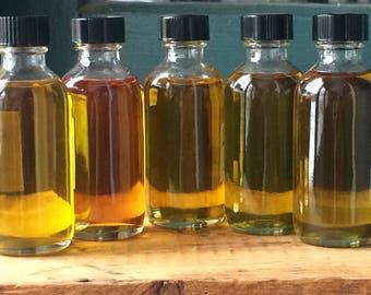 Infused Herbal Oil- Massage Oil, Pine Oil, St. John's Wort Oil, Calendula Oil, Yarrow Oil, Mugwort Oil