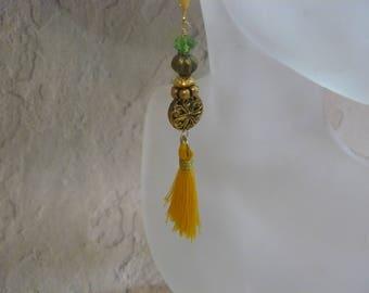 Yellow Tassel Earrings, Summer Earrings, Handmade Earrings, One of a Kind, Unique Handmade. Ladies Accessories, A Gift for Her, Tassels