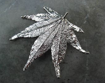 Japanese Maple Leaf Pendant/Brooch - Free Shipping