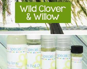 Wild Clover & Willow Perfume, Perfume Spray, Body Spray, Perfume Roll On, Perfume Sample, Dry Oil Spray, You Choose the Product