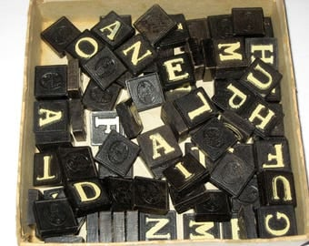 Vintage (1940s) Anagrams - 84  Letter Tiles for Playing or Crafting