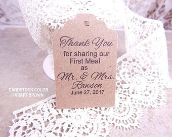 Wedding favor tags | Etsy