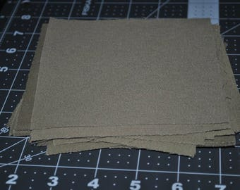 16 Piece Khaki Twill 5 inch Squares Quilting Scrap Builder