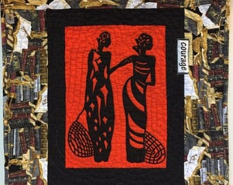 Summer sale A Womannof Sophisticated Substance #9 art quilt
