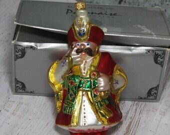 Christmas Ornament SIGNED- Polonaise Kurt Adler- Polish Nobleman- Holiday Decorating- European Hand Painted Ornament- K4
