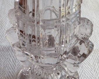 Collection of 5 Vintage Pressed Glass Toothpick Holders