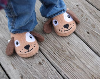 Yikes Twins Children's Puppy slippers