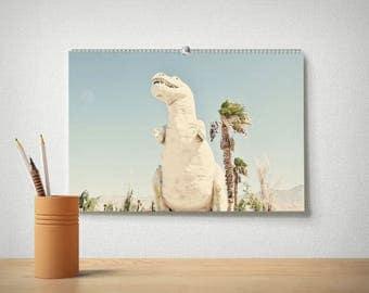 2018 Desert Desk Calendar, Palm Springs Calendar, Office Calendar, Large Calendar, 12 Month Calendar, Cactus, Nature, Dinosaur Calendar