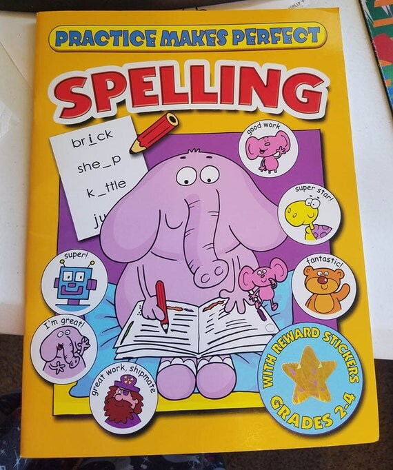Practice Makes perfect Spelling worksheet book home school supply grades 2-4 english